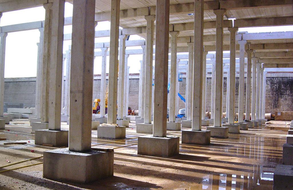 estructuras prefabricadas de hormigón